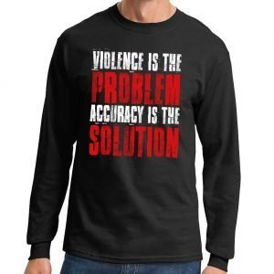 Violence_Is_The-Problem_Long_Sleeve_T-shirt_Black